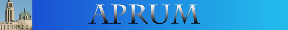 Bandeau de l'APRUM